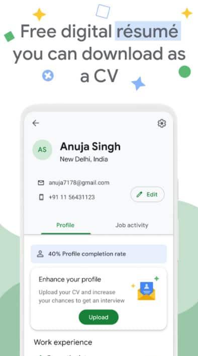 Google Kormo Jobs - digital resume