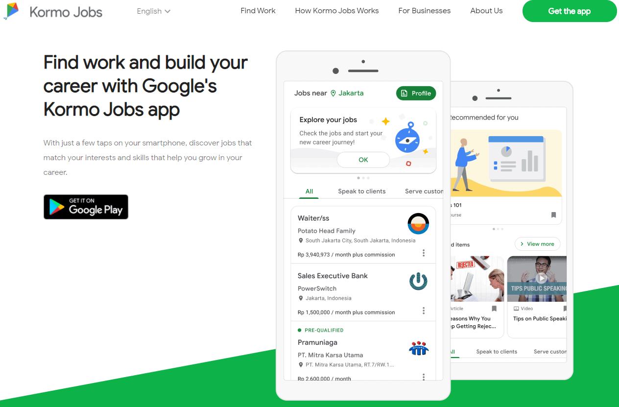 Google Kormo Jobs