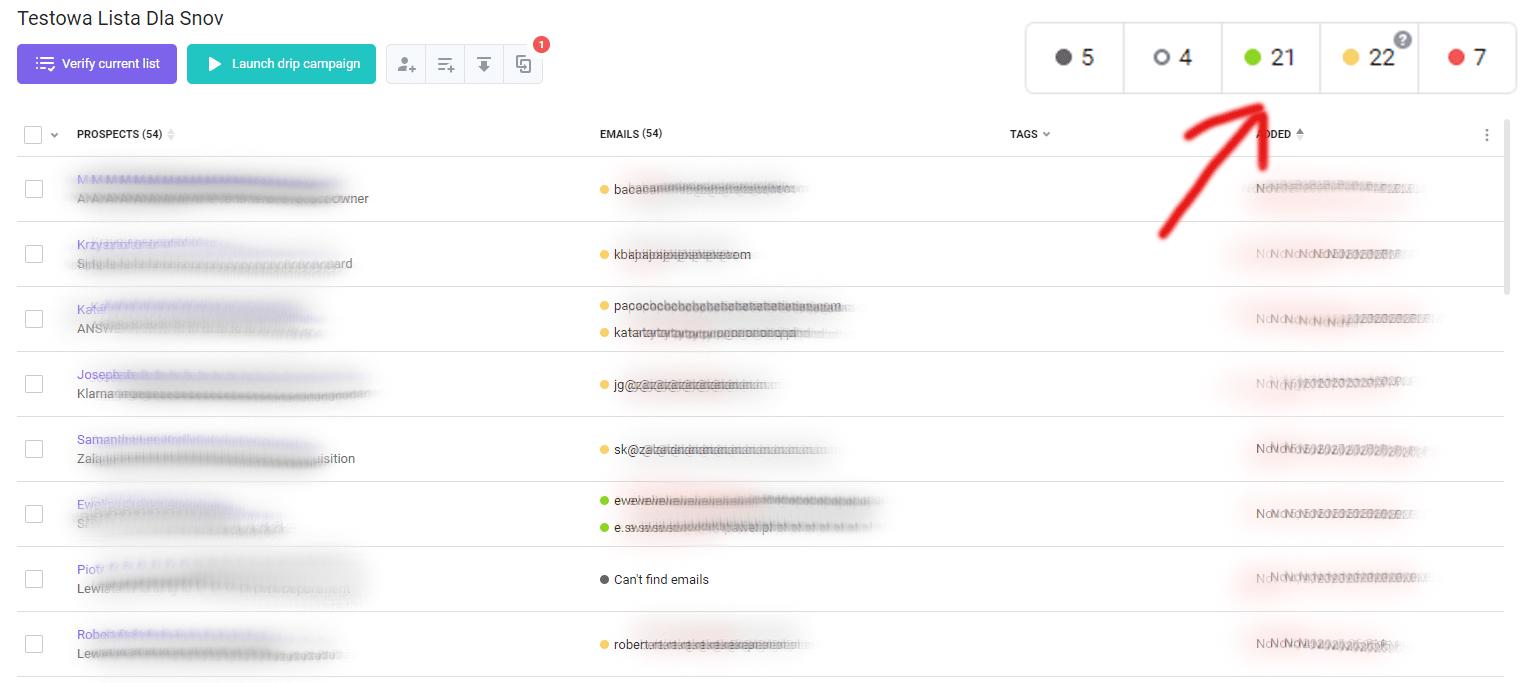 Snovio - wyszukiwanie adresów email